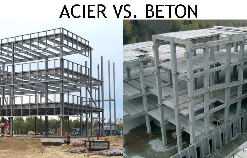 difference entre beton et acier
